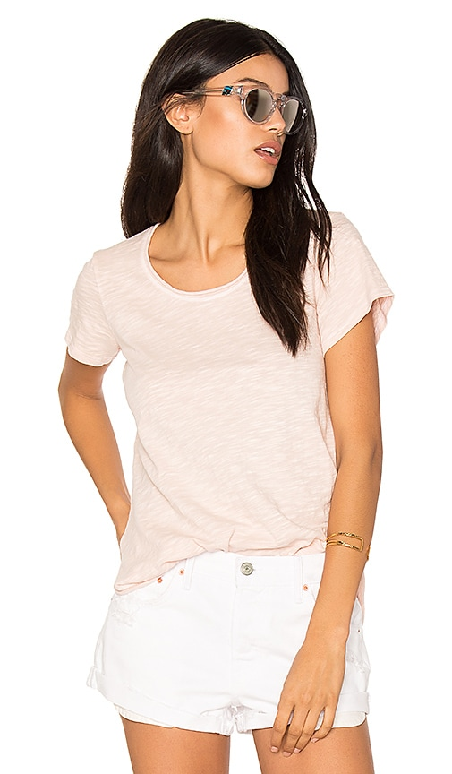 Wilt Double Twisted Hem Tee in Pink