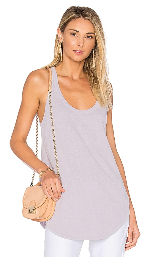 Wilt Shrunken Shirttail Tank in Lavender