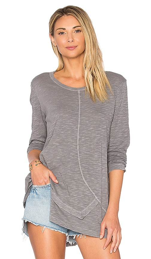 Wilt Shrunken Long Sleeve Tee in Charcoal
