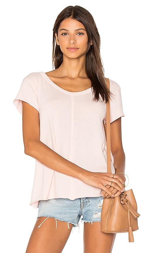 Wilt Extreme V Neck Tee in Pink