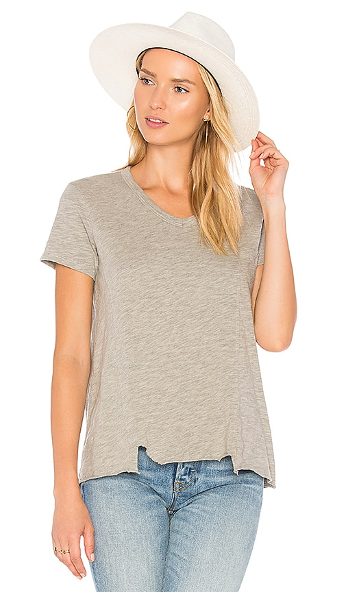 Wilt Shifted Seamed Pocket Tee in Gray