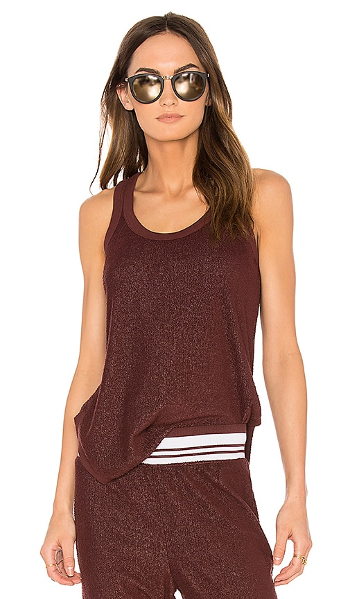 Wilt Shrunken Shirttail Tank in Red