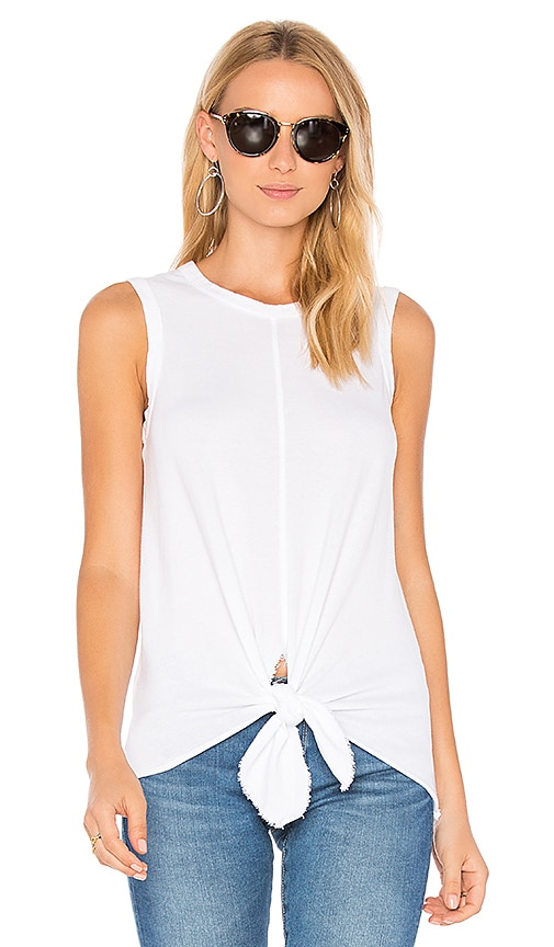 Wilt Tie Shell Tank in White