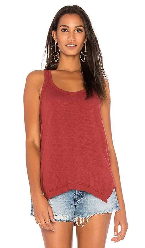 Wilt Hanky Shirttail Tank Top in Red