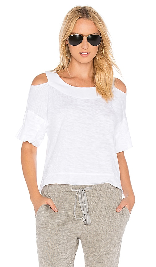 Wilt Boxy Cold Shoulder Tee in White