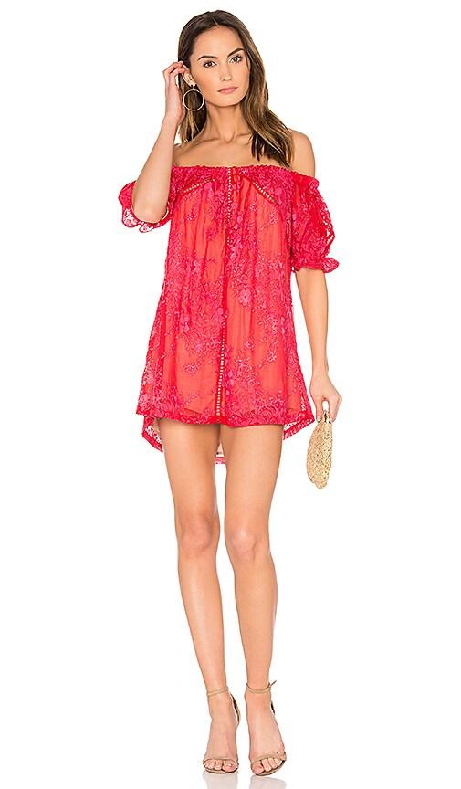 Winona Australia Renee Off Shoulder Dress in Red