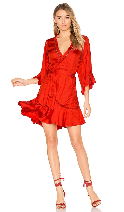 Winona Australia Arielle Short Wrap Dress In Red Revolve Get dressed up with our chicest assortment of covetable minis, midis & maxis. arielle short wrap dress