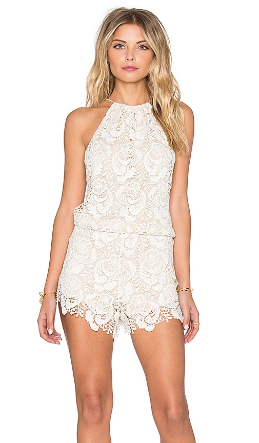 Winston White Delano Romper in Feather