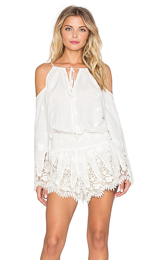 Winston White Natalie Romper in Feather