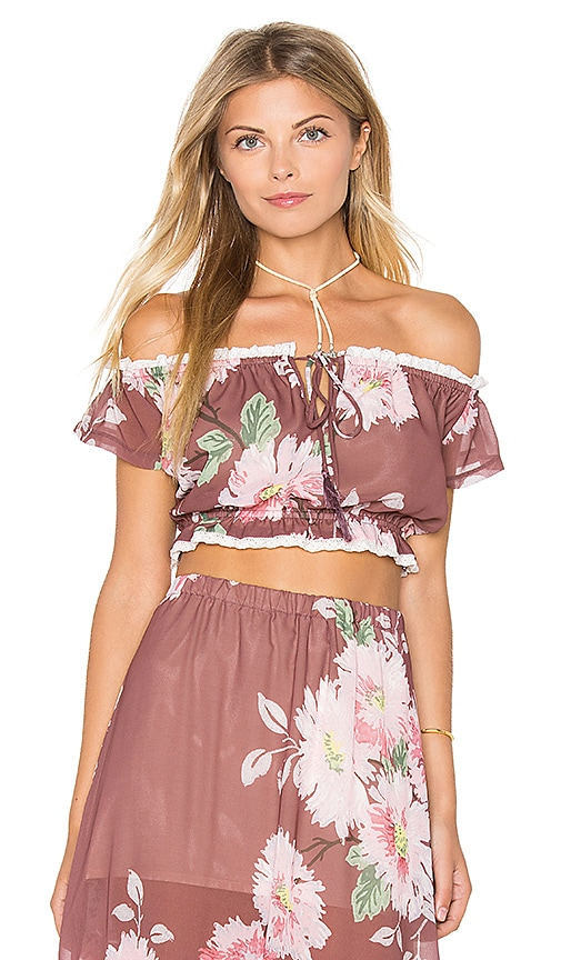 Winston White Melina Top in Mauve