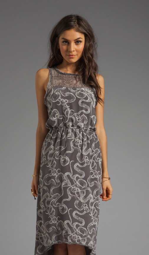 Seraphina Dress/Yoke in Skull Charcoal