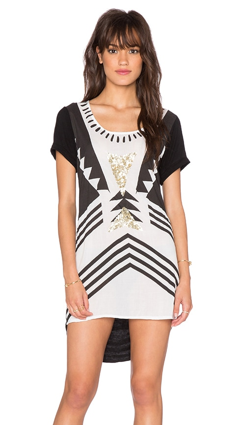 Lost in Lunar Wilde Heart Tribeca Tunic in Black