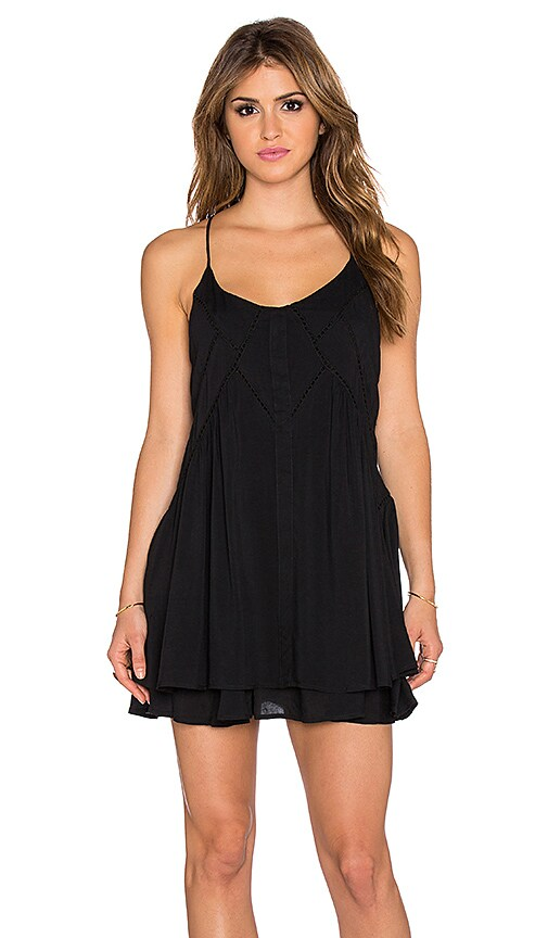 Wilde Heart Lucky Star Shift Dress in Black