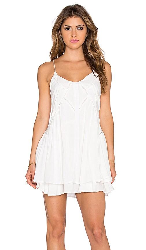 Wilde Heart Lucky Star Shift Dress in White