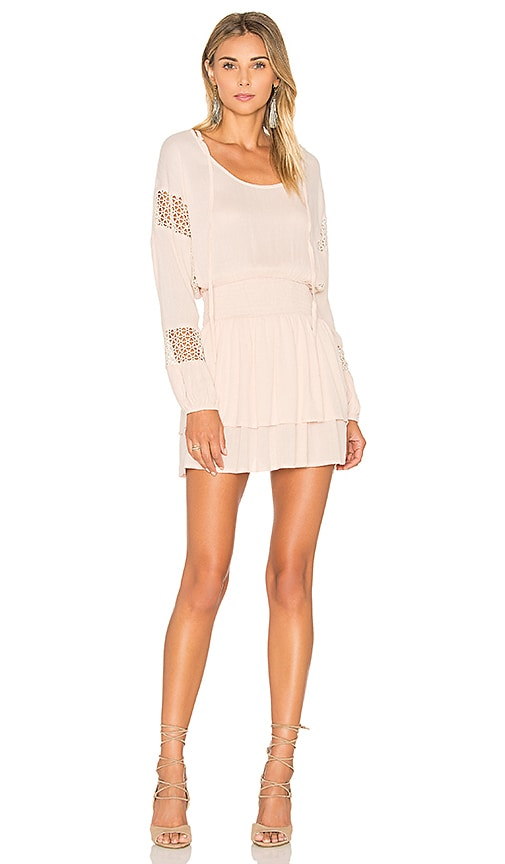 Lost in Lunar Escape Dress in Peach
