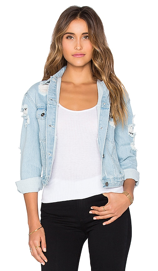 Wilde Heart All Torn For You Jacket in Blue
