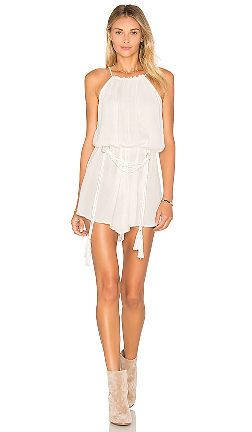 Lost in Lunar Silver Rings Romper in White