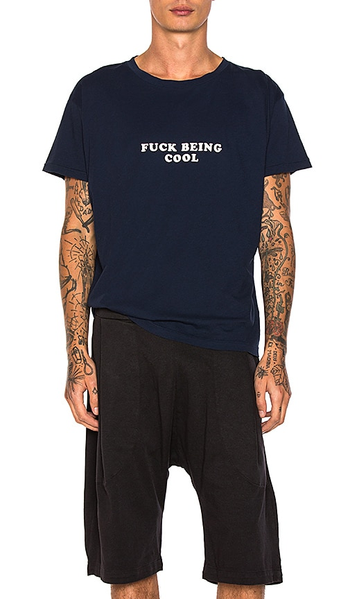Willy Chavarria Being Cool Tee in Blue