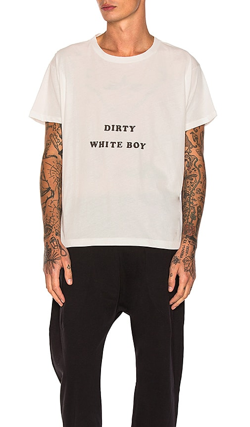 Willy Chavarria Dirty White Boy Tee in White