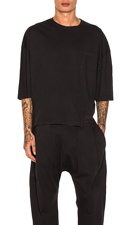Willy Chavarria Panel Tee in Black