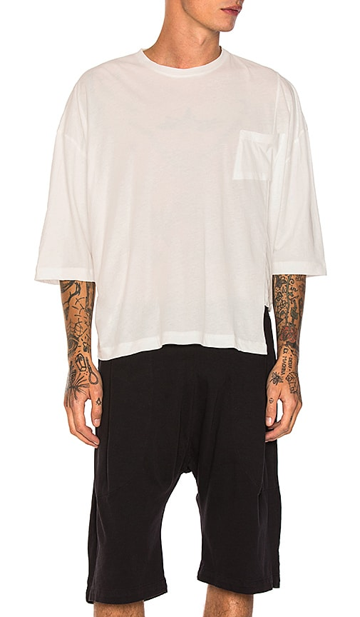 Willy Chavarria Panel Tee in White