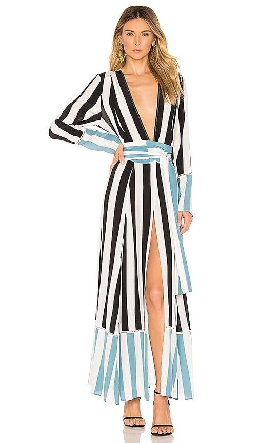 Contrast Maxi Cardigan Dress