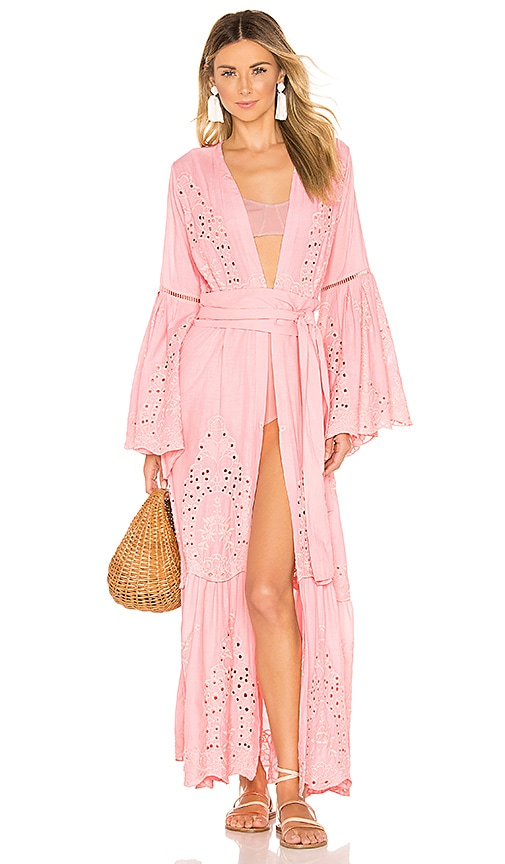 Embroidered Maxi Cardigan Dress