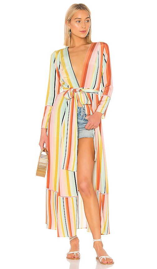Contrast Maxi Cardigan Dress
