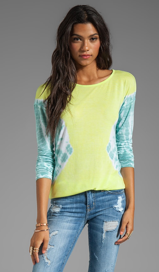 Kyra V-Back Long Sleeve Tie Dye Top