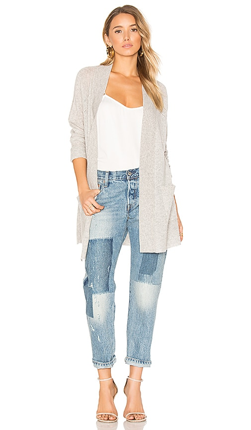 White + Warren Long Cardigan in Gray