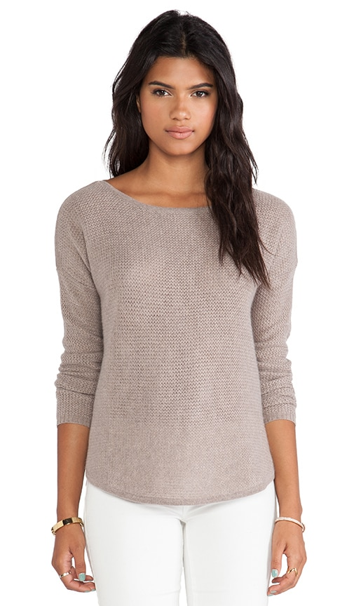 Rickrack Slash Neck Sweater