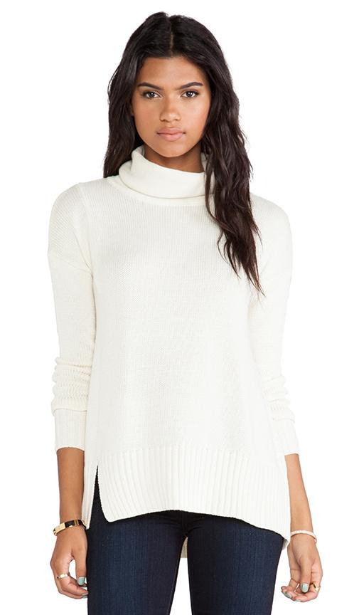 Notch Hem Turtleneck Sweater