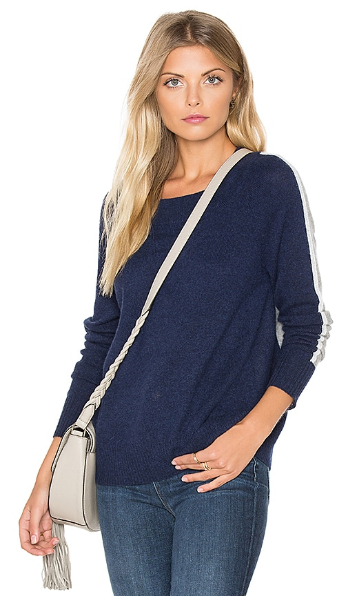 White + Warren Raglan Sweater in Blue