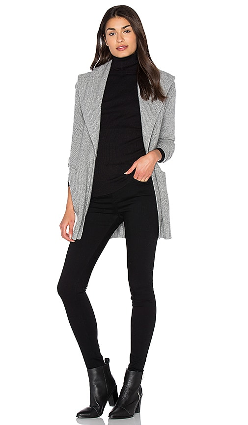 White + Warren Shawl Cardigan in Gray