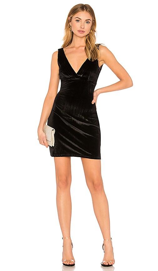WYLDR Distractions Velvet Mini Dress in Black