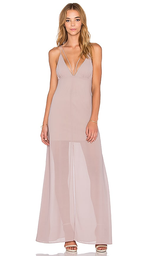 WYLDR Stay With Me Plunge Maxi Dress in Pink