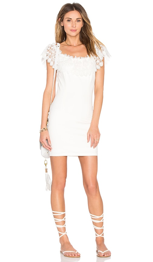WYLDR Mailey Bodycon Dress in Ivory