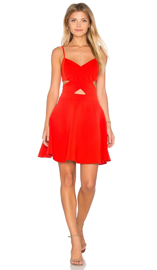WYLDR In Love Skater Dress in Orange