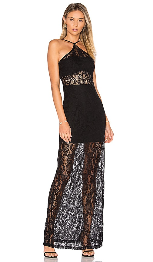 WYLDR Bedroom Eyes Maxi Dress in Black