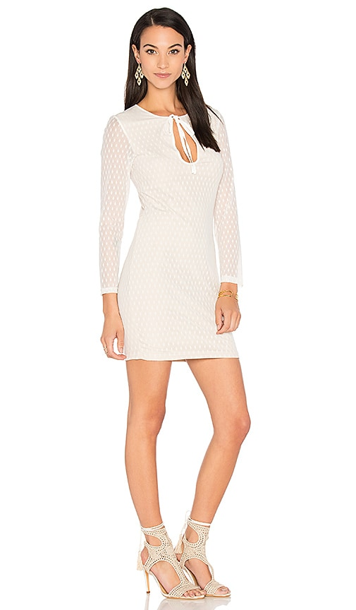 WYLDR Stereo Bodycon Dress in Ivory