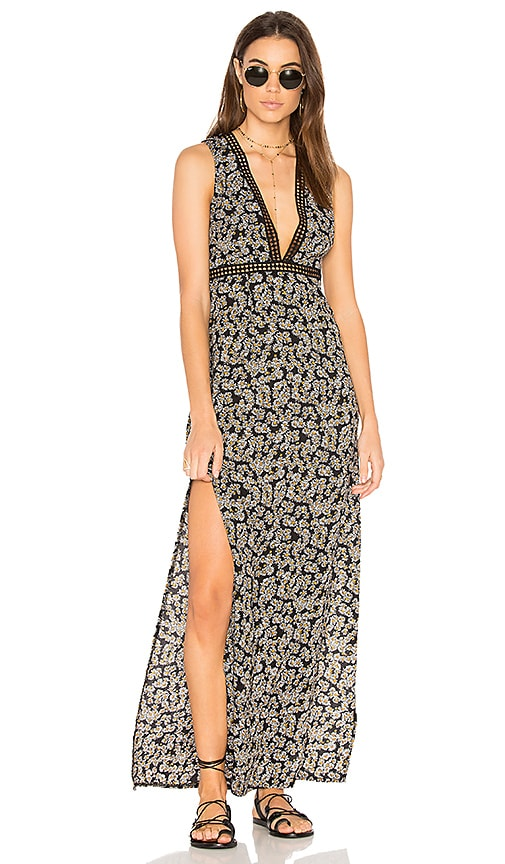 WYLDR See You at Dawn Maxi Dress in Black