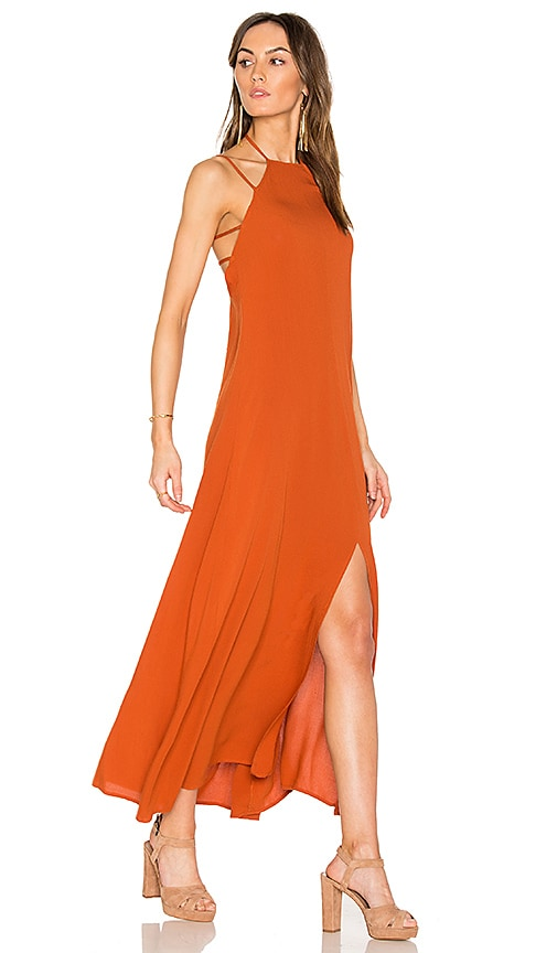 WYLDR In Your Eyes Maxi Dress in Rust