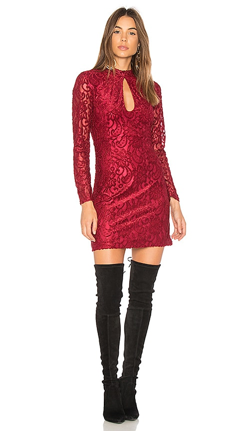 WYLDR Just A Thought High Neck Dress in Red