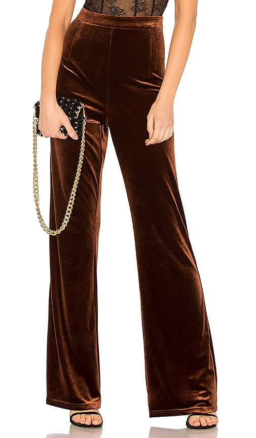 WYLDR Standards Velvet Pant in Metallic Bronze