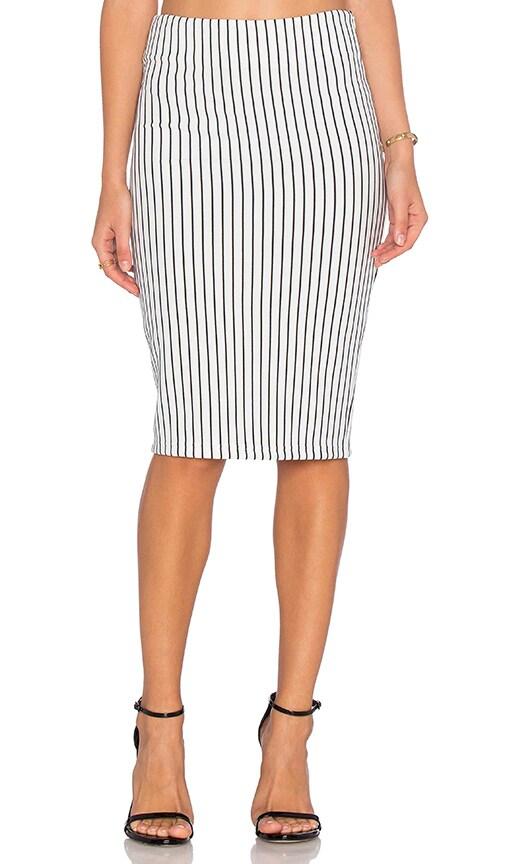 WYLDR Delilah Pencil Skirt in White