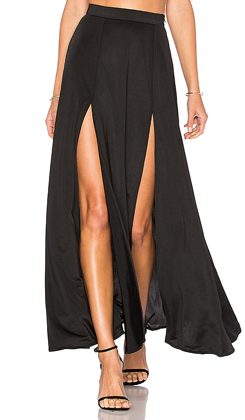 WYLDR Dream Night Maxi Skirt in Black