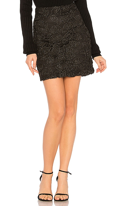 WYLDR Ticking On Mini Skirt in Black