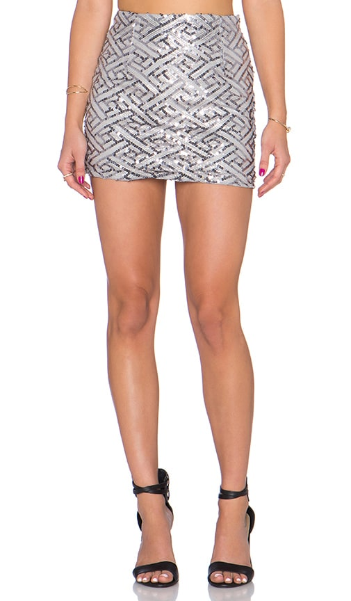 WYLDR Keep It Together Mini Skirt in Gray