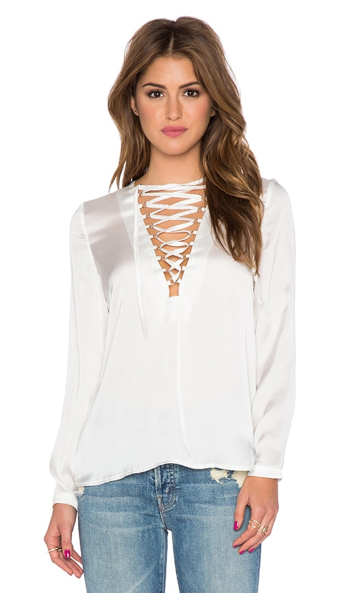 WYLDR It's A Wrap Blouse in Ivory
