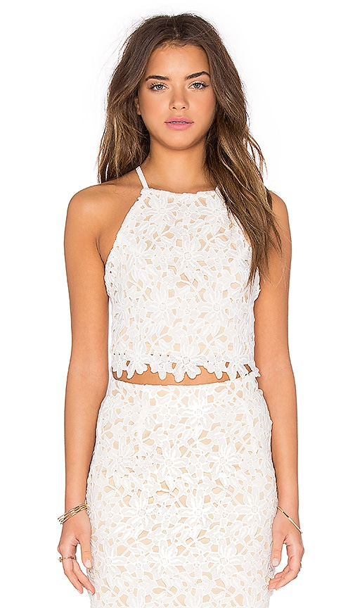 WYLDR California Skies Crop Top in Ivory